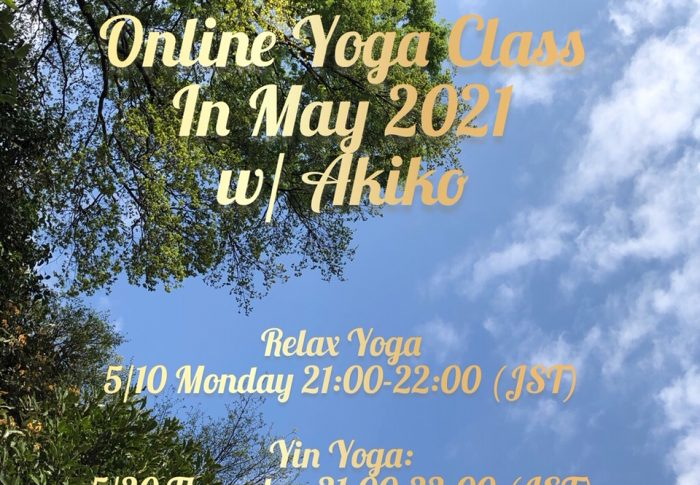 Online Yoga Class in May, 2021