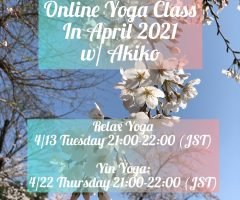 Online Yoga Class in April, 2021