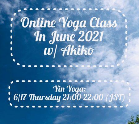 Online Yoga Class in June, 2021