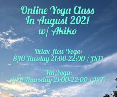 Online Yoga Class in August, 2021